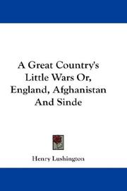 Cover of: A Great Country's Little Wars Or, England, Afghanistan And Sinde