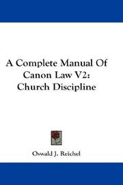 Cover of: A Complete Manual Of Canon Law V2