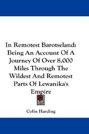 Cover of: In Remotest Barotseland