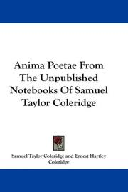 Cover of: Anima Poetae From The Unpublished Notebooks Of Samuel Taylor Coleridge