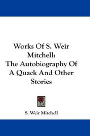 Cover of: Works Of S. Weir Mitchell
