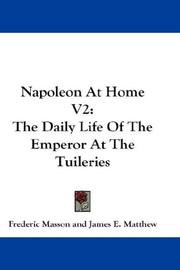 Cover of: Napoleon At Home V2