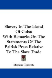 Cover of: Slavery In The Island Of Cuba
