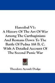 Cover of: Hannibal V1 | Theodore Ayrault Dodge