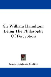 Cover of: Sir William Hamilton