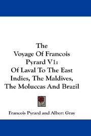 Cover of: The Voyage Of Francois Pyrard V1 | Francois Pyrard