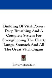 Cover of: Building of vital power
