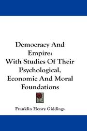 Cover of: Democracy and empire