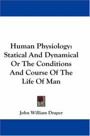 Cover of: Human Physiology | John William Draper