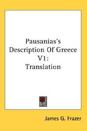 Cover of: Pausanias