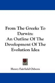 Cover of: From the Greeks to Darwin