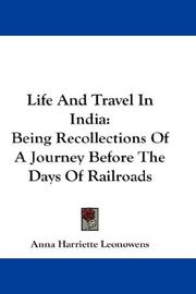 Cover of: Life And Travel In India