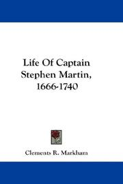 Cover of: Life Of Captain Stephen Martin, 1666-1740