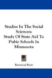Cover of: Studies In The Social Sciences | Raymond Kent