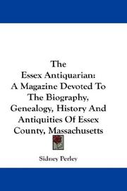 Cover of: The Essex Antiquarian