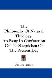 Cover of: The Philosophy Of Natural Theology