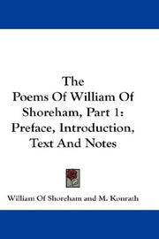 Cover of: The Poems Of William Of Shoreham, Part 1 | William Of Shoreham