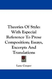 Theories of style by Lane Cooper