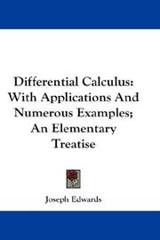 Differential Calculus by Joseph Edwards