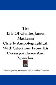 Cover of: The life of Charles James Mathews