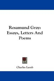 Cover of: Rosamund Gray: Essays, Letters And Poems