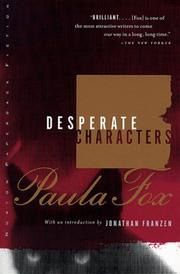Cover of: Desperate characters | Paula Fox