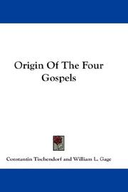 Cover of: Origin Of The Four Gospels