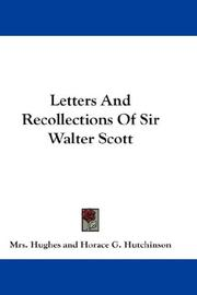 Cover of: Letters And Recollections Of Sir Walter Scott | Mrs. Hughes