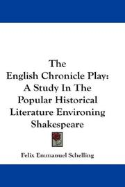 Cover of: The English Chronicle Play