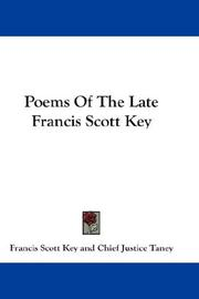 Cover of: Poems Of The Late Francis Scott Key