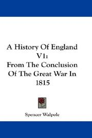 Cover of: A History Of England V1