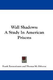 Cover of: Wall Shadows | Frank Tannenbaum