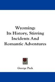Cover of: Wyoming | George Peck