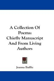 Cover of: A Collection Of Poems