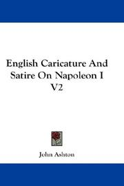 Cover of: English Caricature And Satire On Napoleon I V2
