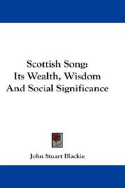 Cover of: Scottish Song