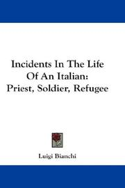 Cover of: Incidents In The Life Of An Italian