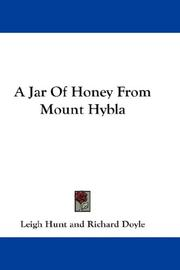 Cover of: A jar of honey from Mount Hybla