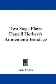 Cover of: Two Stage Plays