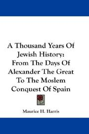 Cover of: A Thousand Years Of Jewish History