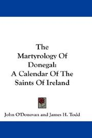 Cover of: The Martyrology Of Donegal |