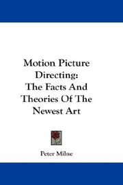 Cover of: Motion Picture Directing | Peter Milne