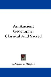 Cover of: An Ancient Geography: Classical And Sacred