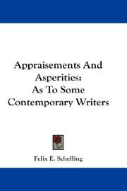 Cover of: Appraisements And Asperities
