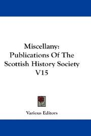 Cover of: Miscellany | Various Editors