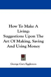 Cover of: How to make a living