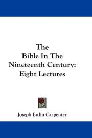 Cover of: The Bible In The Nineteenth Century