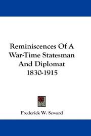 Cover of: Reminiscences Of A War-Time Statesman And Diplomat 1830-1915