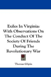 Cover of: Exiles In Virginia | Thomas Gilpin
