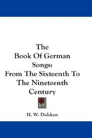 Cover of: The Book Of German Songs